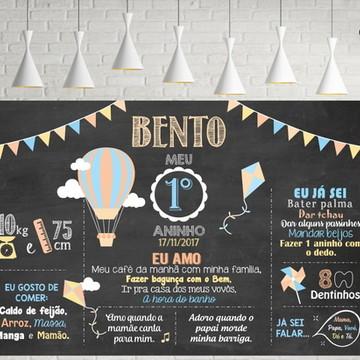 Painel Aniversário Festa Balão Pipa e Catavento - Digital