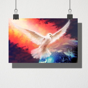 Poster A3 Pomba da paz