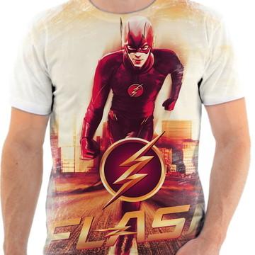 Camiseta Camisa Personalizada Série Flash Herói Liga 3