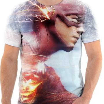 Camiseta Camisa Personalizada Série Flash Herói Liga 5