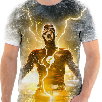 Camiseta Camisa Personalizada Série Flash Herói Liga 6
