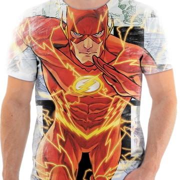 Camiseta Camisa Personalizada Série Flash Herói Liga 10