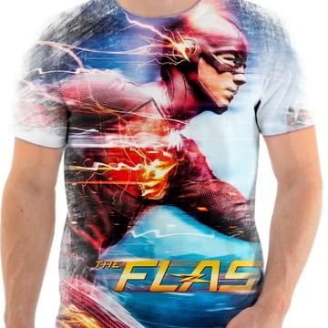 Camiseta Camisa Personalizada Série Flash Herói Liga 11