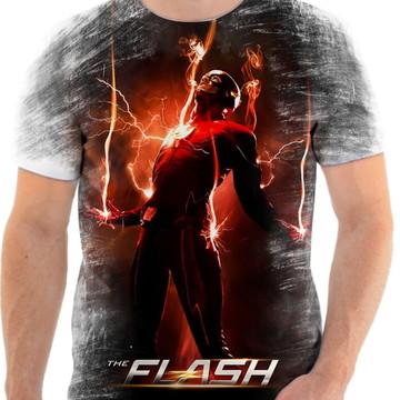 Camiseta Camisa Personalizada Série Flash Herói Liga 12