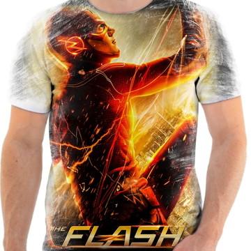 Camiseta Camisa Personalizada Série Flash Herói Liga 13