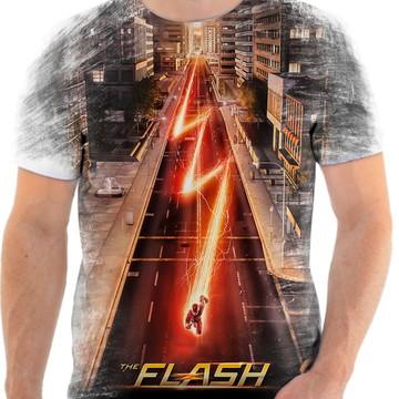 Camiseta Camisa Personalizada Série Flash Herói Liga 14