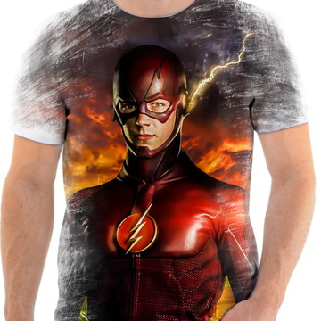 Camiseta Camisa Personalizada Série Flash Herói Liga 16