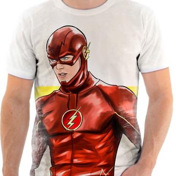 Camiseta Camisa Personalizada Série Flash Herói Liga 18