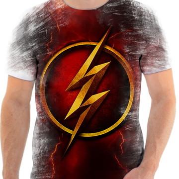 Camiseta Camisa Personalizada Série Flash Herói Liga 21