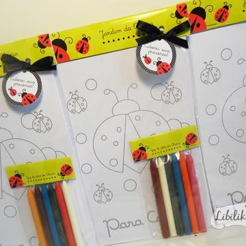 Lembrancinha Joaninha - Kit para colorir