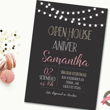 Convite digital Open House / Casa Nova