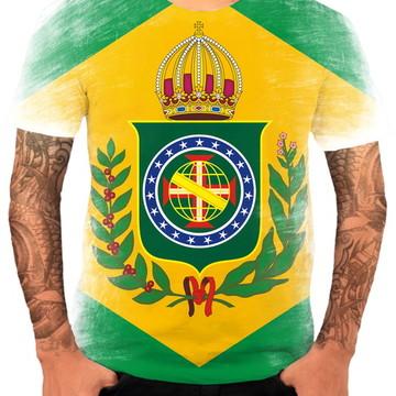 Camisa Blusa Personaliza Bandeira Monarquia Império Brasil 1