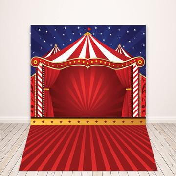 Fundo Fotográfico Em Tecido Newborn Circo 1,5x2,2m - FFC-84
