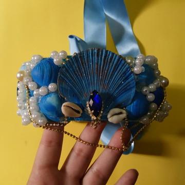 Fantasia | Coroa de Conchas do Mar Azul