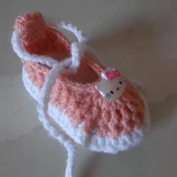 Sapatilha de Crochê para Menina