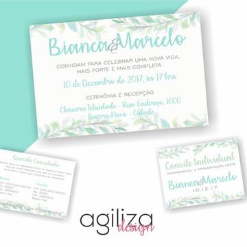 Convite Casamento - Campo Verde - Arte Digital
