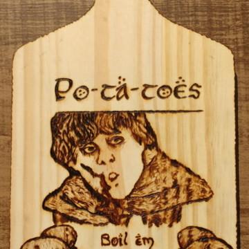 """Tábua de legumes/carne """"Po-ta-toes"""""""