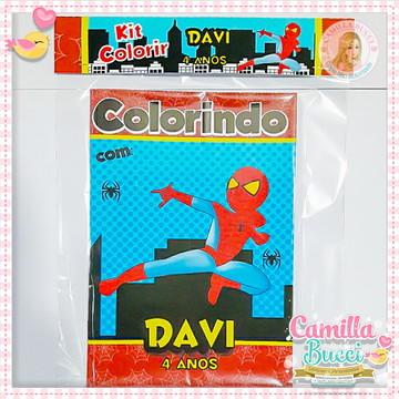 Kit Colorir 3D Homem Aranha