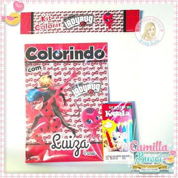 Kit Colorir Lady Bug