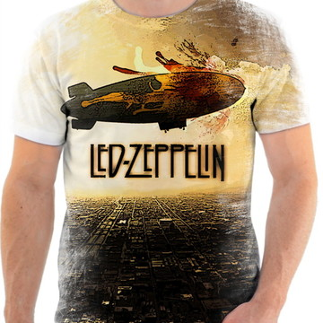 Camisa Camiseta Personalizada Led Zeppelin 12