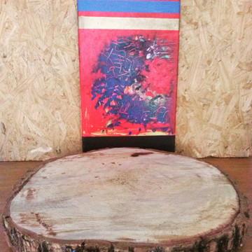 Tabua de carne 50 cm,bolacha de madeira para corte carnes