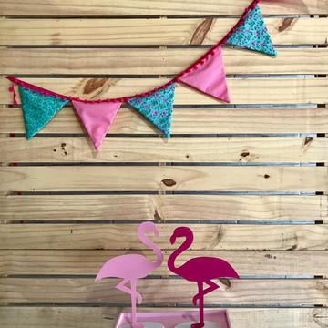 Bandeirolas para decoração de Flamingo