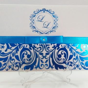 Convite de Casamento Hot Stamp Elegante Diversas Cores