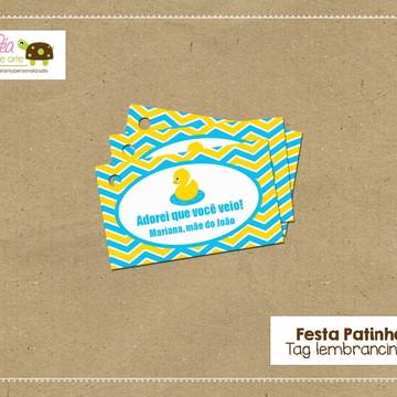 Tag Lembrancinha - Festa Patinho