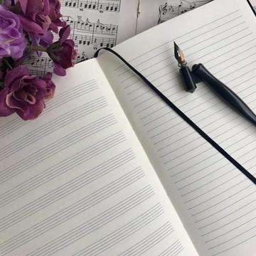 Caderno de Música Costurado A5