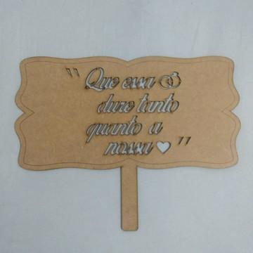 Placa Casamento Personalizada
