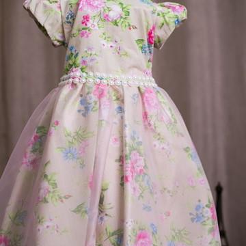 Vestido Para Festa Infantil Floral