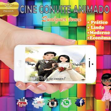 Convite Cine Digital Caricatura