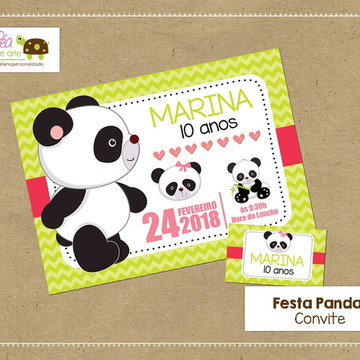 Convite Festa Panda