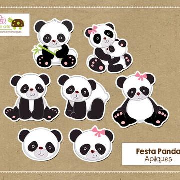 Apliques Festa Panda