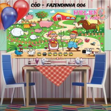 Painel festa decoração Fazendinha