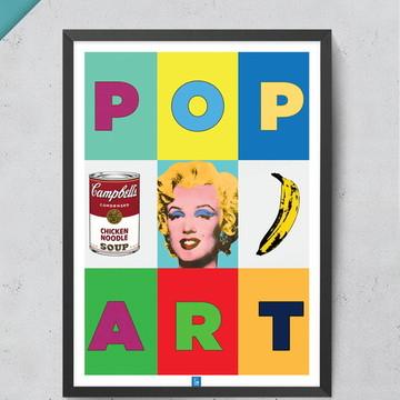 Quadro Pop Art 30x40cm