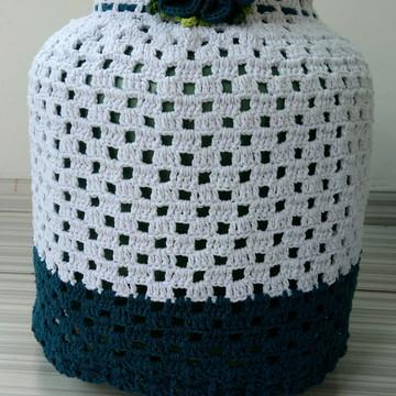 Capa para botijão de crochê