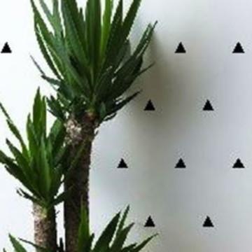 Cartela de Adesivos de Parede Triângulos Pretos