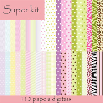 #1137 - Super Mega Kit com 110 papéis Digitais