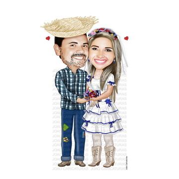 Caricatura Casamento Caipira N