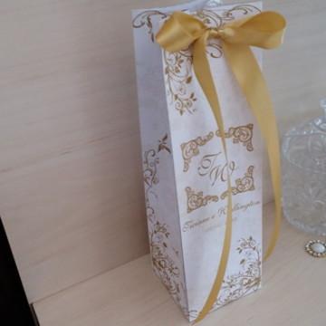 Embalagem Para Mini Champanhe ou Taças