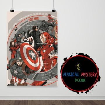 Placa Decorativa - Captain America e Civil War