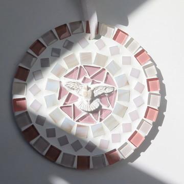 Mandalinha Divino em mosaico rosê