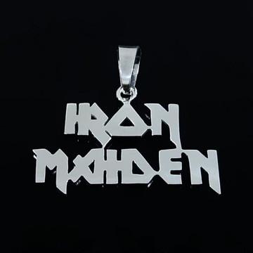 Pingente de Prata Iron Maiden