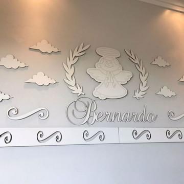Kit Painel de Parede ANJO Completo 4 Faixas MDF Branco