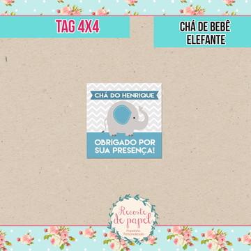Tag - Chá de bebê Elefante (DIGITAL)