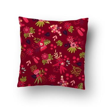 Capa de Almofada Flores Coloridas