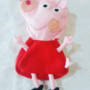 Estojinho Peppa Pig Em Feltro