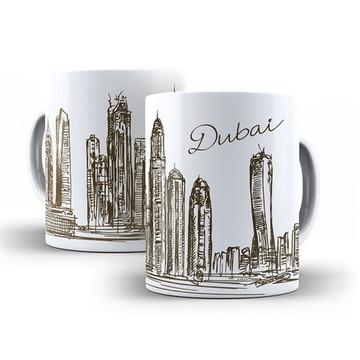 Caneca Cidades Países Dubai Emirados Árabes
