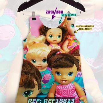 00e8270990 Vestido Infantil Trapezio Colecao Baby Alive
